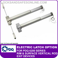 Electric Latch Retraction Option (EL) - For PDQ 6200 Series Rim and Surface Vertical Rod Exit Devices