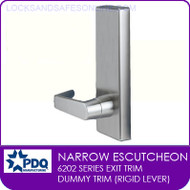 PDQ 6202 Escutcheon Dummy Trim (Rigid Lever) | For PDQ 6202 Series Exit Devices