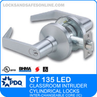 Classroom Intruder Cylindrical Lock with LED Indicator | PDQ GT 135 LED