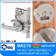 Egress Indicator Mortise Locks - Privacy | PDQ MR279