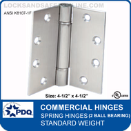 "PDQ Commercial Hinges | K8107-1F - Spring Hinges (4-1/2""x4-1/2"")"