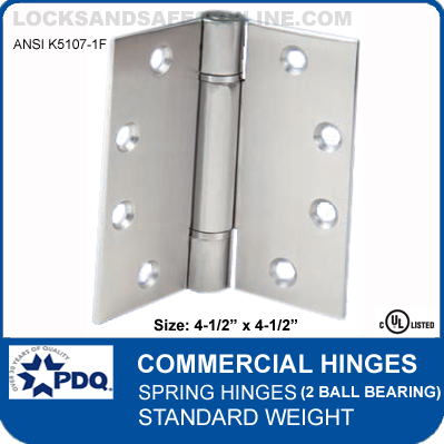 7ff8f2e65aa PDQ Commercial Hinges | K5107-1F - Spring Hinges (4-1/2