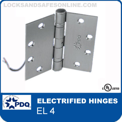 PDQ Electrified Hinges   EL 4 – Concealed electric through-wire