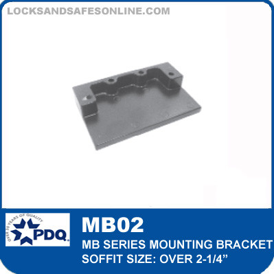 """Mounting Bracket - Soffit over 2-1/4"""" (Included as pair)   PDQ MB02"""