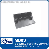 "Mounting Bracket - Soffit Size 7⁄8"" - 2-1⁄4"" (Included as pair) 