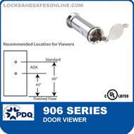 PDQ 906 Series Door Viewer - 160 Degrees
