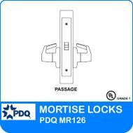 Grade 1 Passage Mortise Locks   PDQ MR126   F-Sectional Trim