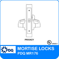 Non-Cylinder Privacy Mortise Locks | PDQ MR176 | F Sectional Trim