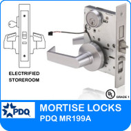 Grade 1 Electrified Storeroom Mortise Locks | PDQ MR199A | F Sectional Trim (PDQ-MR199AFS)