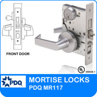 Grade 1 Single Cylinder Front Door Mortise Locks | PDQ MR117 | F Sectional Trim