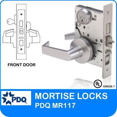 Grade 1 Single Cylinder Front Door Mortise Locks | PDQ MR117 | F Sectional Trim