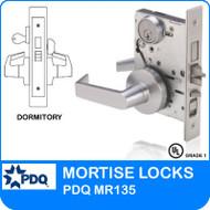 Grade 1 Single Cylinder Dormitory Mortise Locks | PDQ MR135 | F Sectional Trim