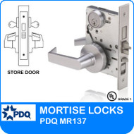 Grade 1 Double Cylinder Store Door Mortise Locks | PDQ MR137 | F Sectional Trim