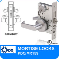 Grade 1 Double Cylinder Dormitory Mortise Locks | PDQ MR159 | F Sectional Trim