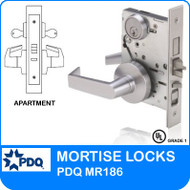 Grade 1 Double Cylinder Apartment Entrance Mortise Locks | PDQ MR186 | F Sectional Trim