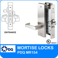 Grade 1 Single Cylinder Entrance Apartment Corridor Mortise Locks | PDQ MR154 | F Series Escutcheon Trim