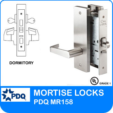 Grade 1 Double Cylinder Dormitory Mortise Locks | PDQ MR158 | F Series Escutcheon Trim
