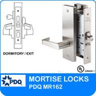 Grade 1 Single Cylinder Dwelling Entrance / Dormitory / Exit Mortise Locks   PDQ MR162   F Series Escutcheon Trim
