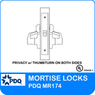 Grade 1 Privacy with Thumbturn on Both Sides Mortise Locks | PDQ MR174 | J Series Sectional Trim