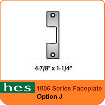 HES J Option - 1006 Series Faceplate