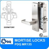 Grade 1 Single Cylinder Dormitory Mortise Locks   PDQ MR135   J Wide Escutcheon Trim