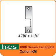 HES KM Option - 1006 Series Faceplate