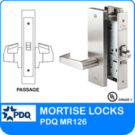 Grade 1 Passage Mortise Locks | PDQ MR126| J Escutcheon Trim