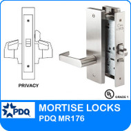 Grade 1 Privacy Mortise Locks | PDQ MR176 | J Escutcheon Trim