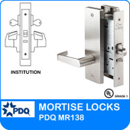 Institution Locks Mortise Grade 1 Double Cylinder | PDQ MR138 | J Wide Escutcheon Trim