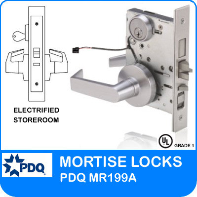 Grade 1 Electrified Storeroom Mortise Locks | PDQ MR199A | J Series Sectional Trim