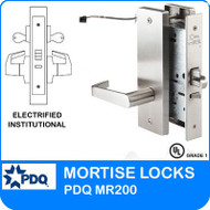 Grade 1 Electrified Institutional Mortise Locks | PDQ MR200 | J Wide Escutcheon Trim