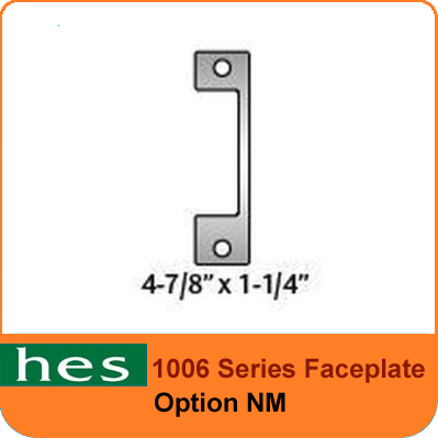 HES NM Option - 1006 Series Faceplate