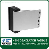 Adams Rite 4590 Deadlatch Paddle for 4300/4500/4900 Deadlatches