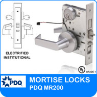 Grade 1 Electrified Institutional Mortise Locks | PDQ MR200 | J Wide Series Sectional Trim