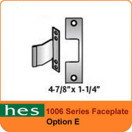 HES E Option - 1006 Series Faceplate