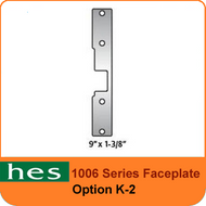 HES K-2 Option - 1006 Series Faceplate