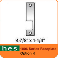 HES K Option - 1006 Series Faceplate