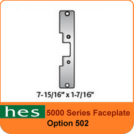 HES 502 Option - 5000 Series Faceplate
