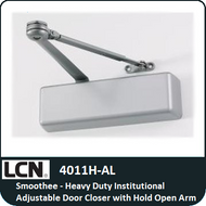 LCN 4011H-AL - Smoothee-Heavy Duty Institutional Adjustable Door Closer with Hold Open Arm