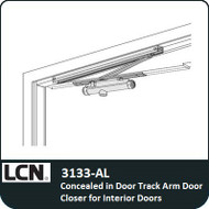 LCN 3133-AL - Concealed in DoorTrack Arm Door Closer for Interior doors