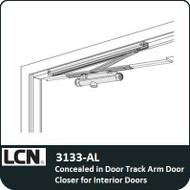 LCN 3133-AL - Concealed in DoorTrack Arm Door Closer for Interior doors