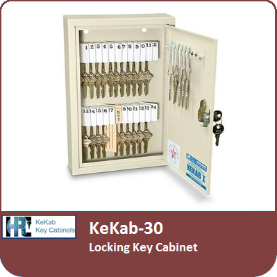 KeKab-30 Locking Key Cabinet by HPC