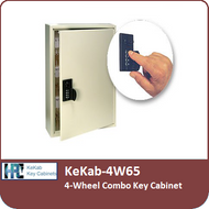 KeKab-4W65 - 4-Wheel Combo Key Cabinet by HPC