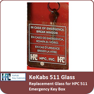 Kekab 511 Replacement Glass for HPC 511 Emergency Key Box
