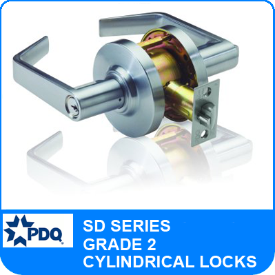 PDQ SD Series Cylindrical Lock - Grade 2