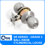 PDQ SR Series Cylindrical Lock (Ball Knob) - Grade 3