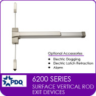 Commercial Surface Vertical Rod Exit Devices | Grade 1 (GR1) | PDQ 6200 Series
