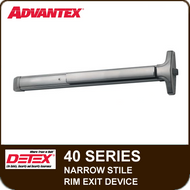 Advantex 40 Series Narrow Stile Rim Exit Device - Grade 1
