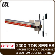 ECL-230X-TDB - 3 Point Top Bolt, Deadbolt and Bottom Bolt Exit Control Lock