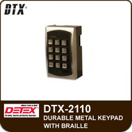 DTX-2110 - Stand-Alone Keypads, Durable Metal Keypad with Braille
